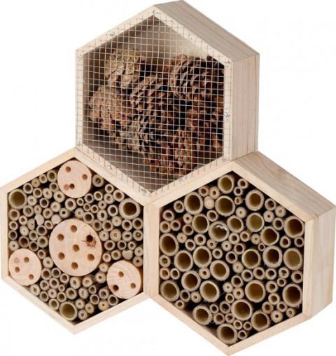 zeshoekig bijenhotel